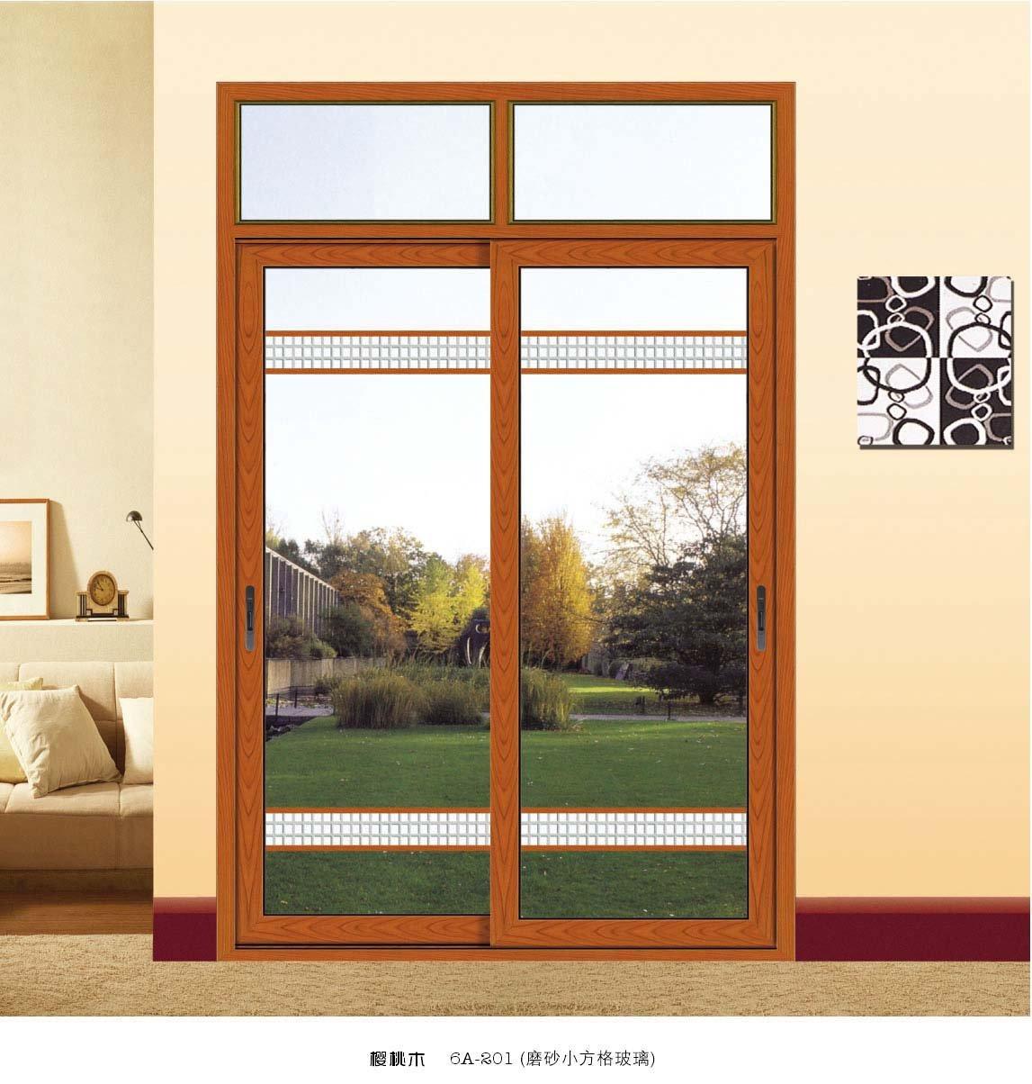 Exterior sliding aluminum door drawing view aluminum door for Sliding glass doors drawing