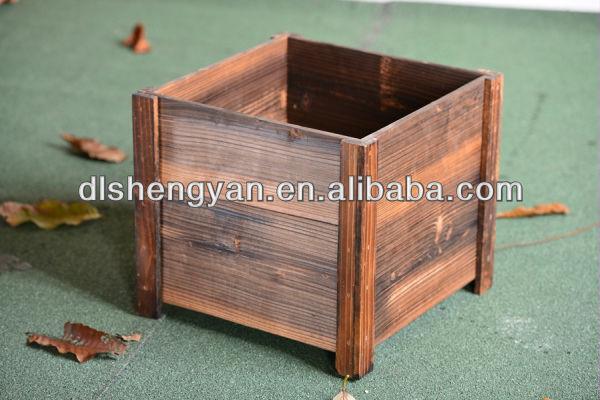 Hot Sale Rustic Wooden Planter Box Garden Flower Box