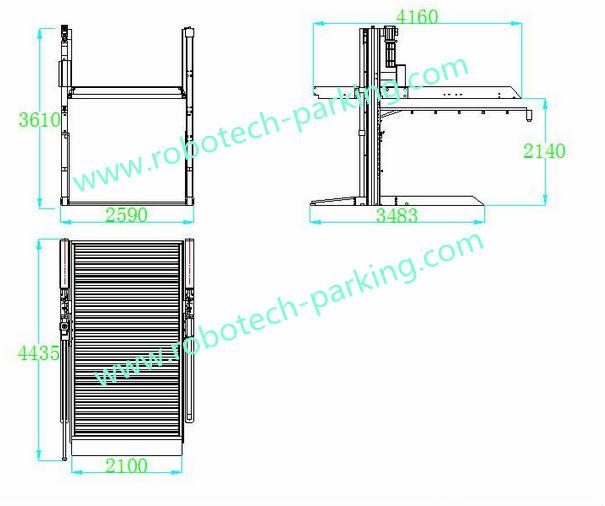 Underground Garage Automotive Hydraulic Lifts View