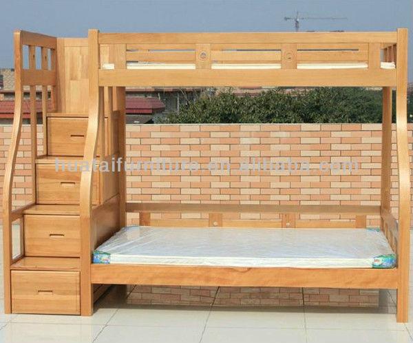Solid beech wood kids bunk bed simple mother children solid wood bunk bed bedroom furniture Unfinished childrens bedroom furniture