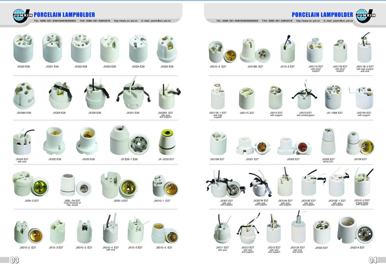 Electronic Spot Light Holder Porcelain Lamp Socket Bulb
