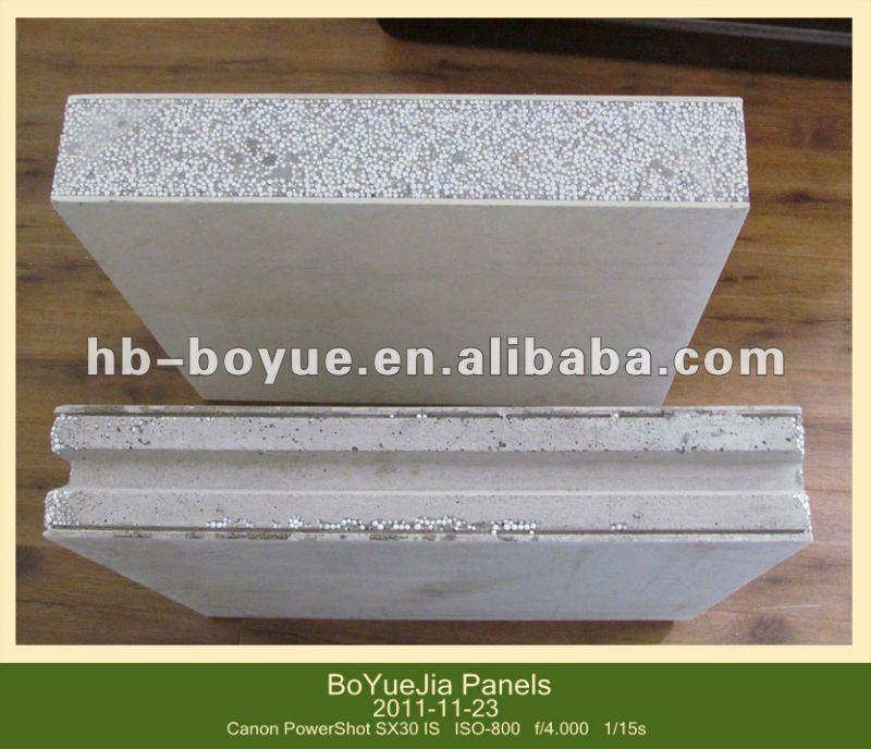 Prefabricated lightweight concrete eps foam wall board for Concrete foam insulation