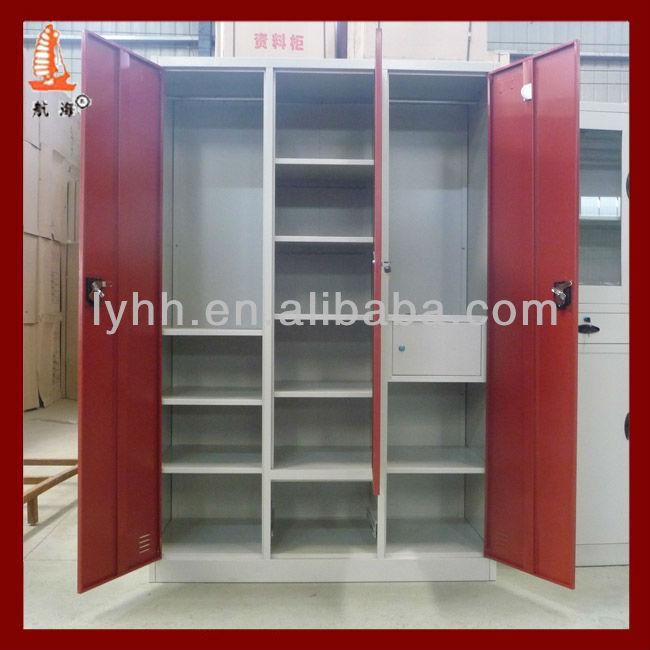 New Red Bedroom Almirah Combined Indian Wardrobe Designs