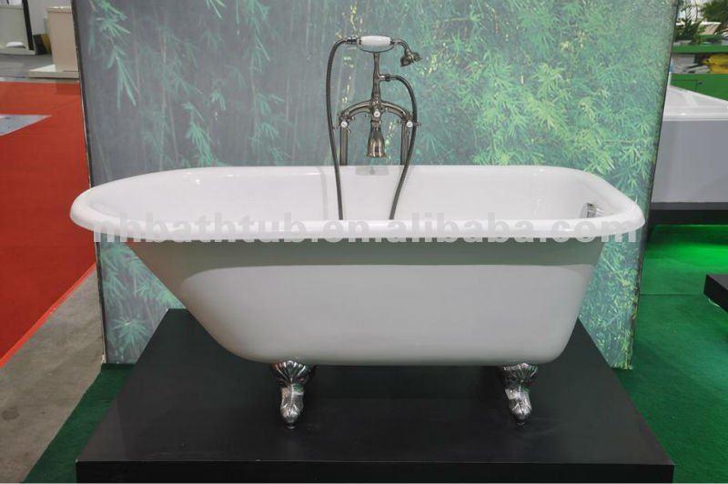 clawfoot tub hot sell cheap bathtub roll top bath with