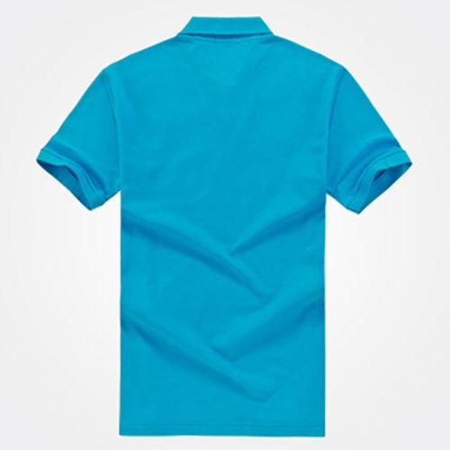 2014 New Men Plain Color Wholesale Blank Blue Cheap Polo T