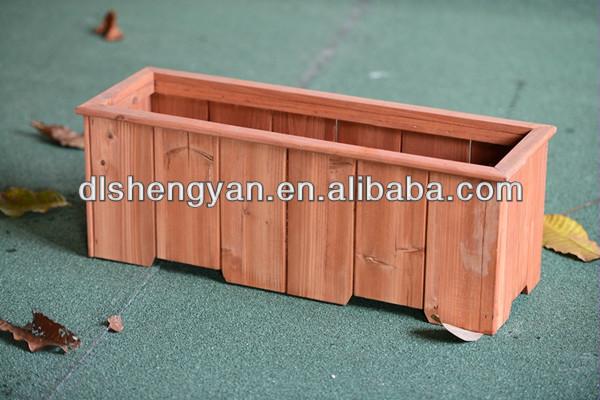Square Make Wooden Decorative Tree Planter Pots Design
