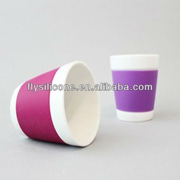 Custom Coffee Cup Sleeve Colorful Silicone Coffee Cup