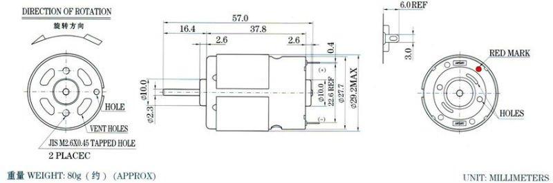 12v Dc Motor Specifications Rx Rs380smp Buy 12v Dc