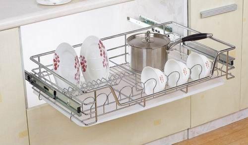 Hpj602 Kitchen Cabinet 3 Tier Drawer Organizer Basket