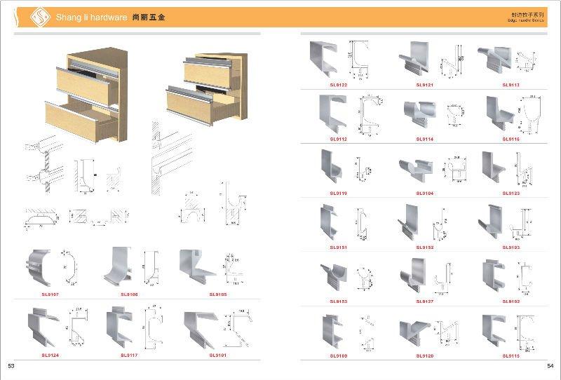 Aluminum Edge G Handle Edge Hidden Handle Cabinet Edge