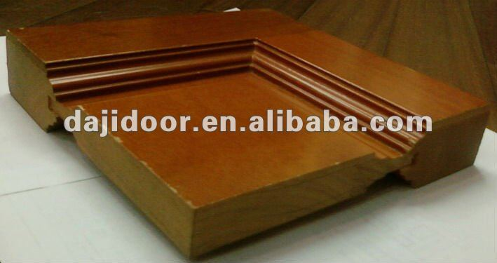 Double Teak Wood Main Door Glass Inserts DJ-S9496M