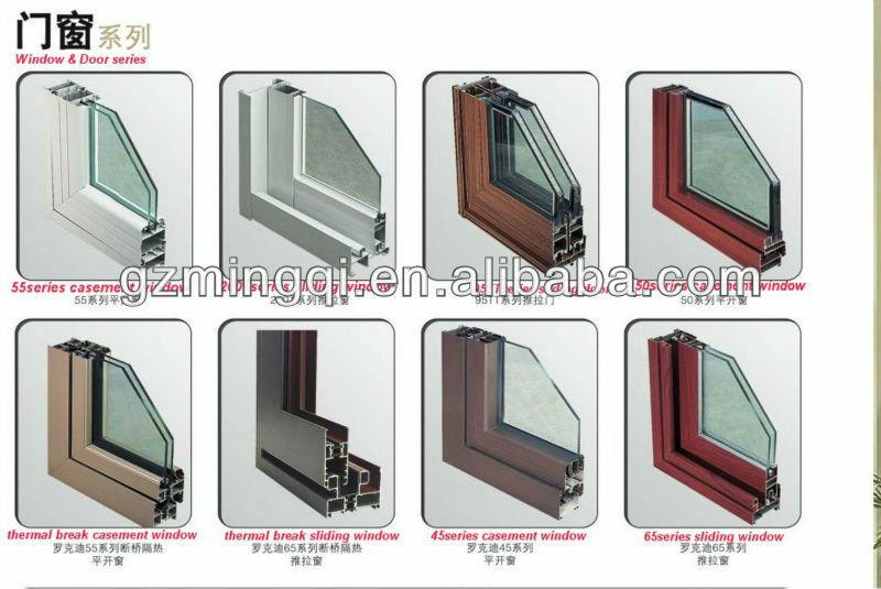 Bathroom glass window - Wood Aluminum Frame Tempered Glass Sliding Doors With