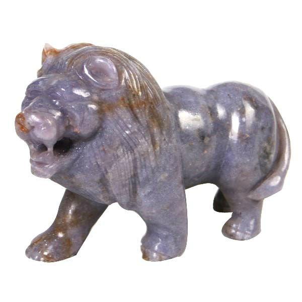 Lion sculptures natural gemstone animals carving