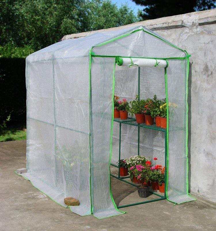 Plastic film walk in tube greenhouse alibaba china market for Viveros caseros