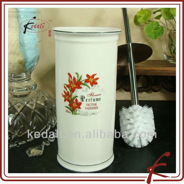 ceramic toilet brush holder with flower design buy ceramic toilet brush holder toilet brush. Black Bedroom Furniture Sets. Home Design Ideas