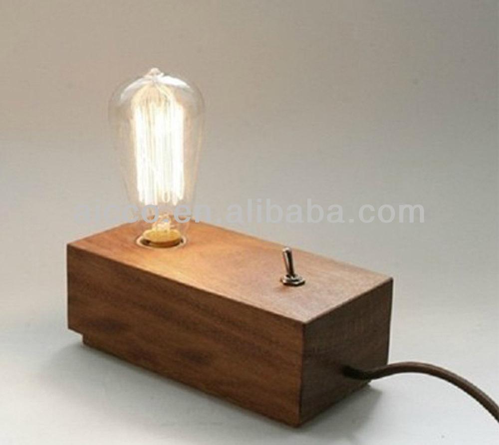modern edison wooden table lighting 110v 220vdesigner lights with rectangle wooden table lamp. Black Bedroom Furniture Sets. Home Design Ideas