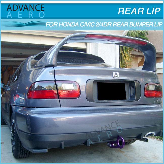 For 92 93 94 95 Honda Civic 2 4 Door Hc1 Style Rear Bumper