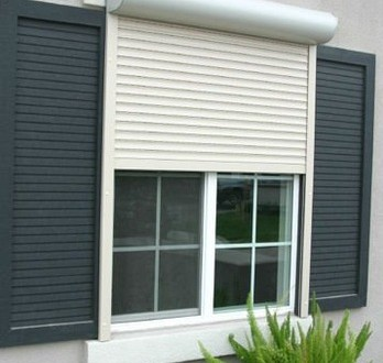 aluminum roller shutters design, Guangzhou factory design, electric/manual style