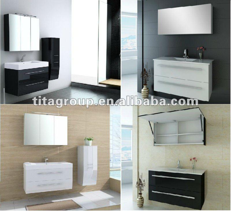 New Wall Vanity CabinetTop 1 Glossy Bathroom FurnitureGermany Bathroom