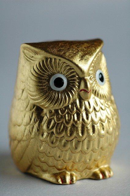 Japanese Gift Gold Leaf Owl Figurine Buy Japanese Gift
