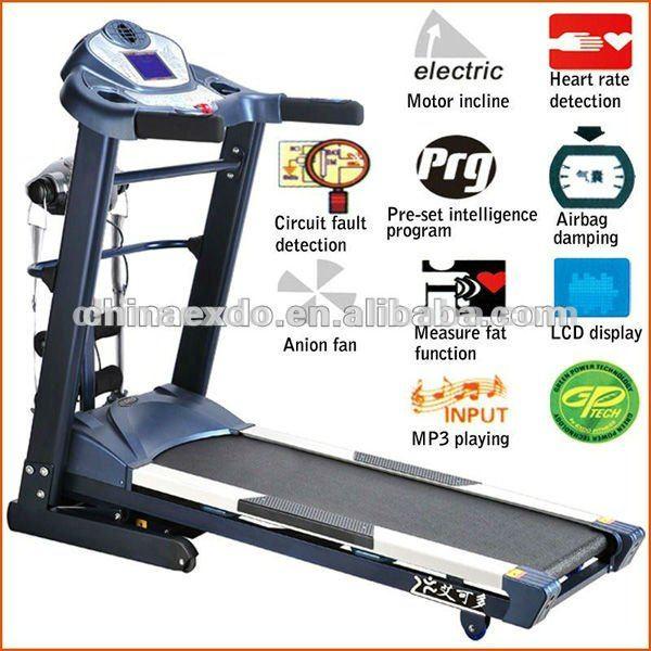 Heavy duty treadmill air walk machine motorized gym for Best non motorized treadmill