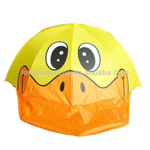 Yellow Duck Character Umbrella For Kids Like