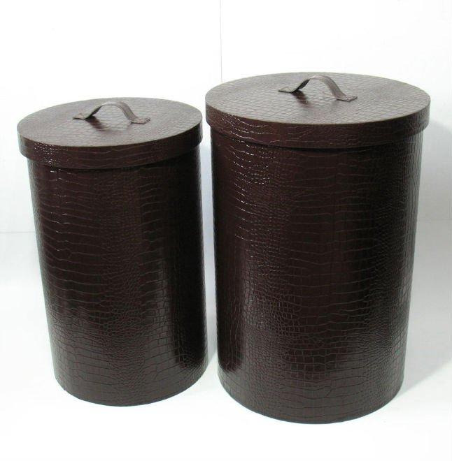 Faux Leather Laundry Bin Buy Airtight Storage Bins Round