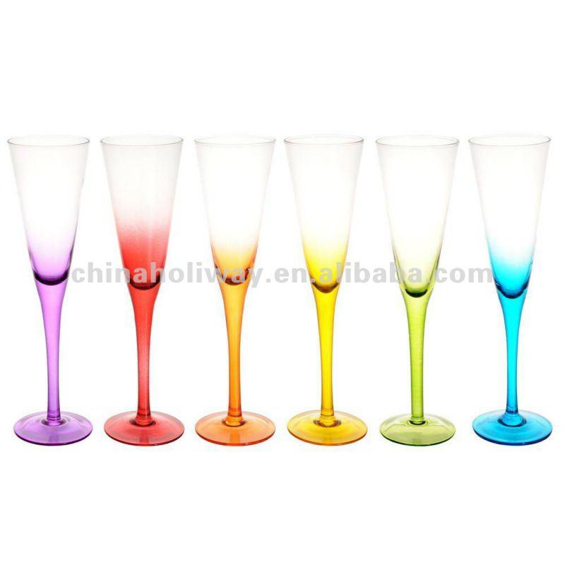Set Of 6 Colorama Glasses Colored Tumbler Glass Buy Set