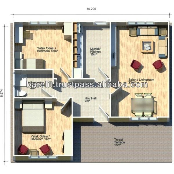 Singolo casa al piano terra lucy 76 m2 16 m2 veranda for Casa a piano singolo