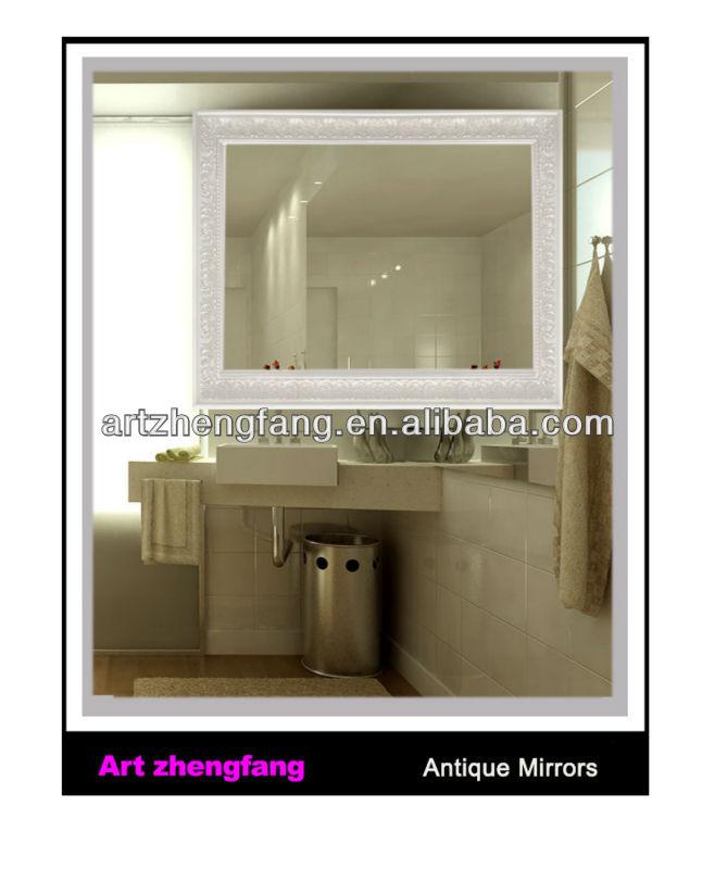 Haute qualit coiffure miroirs pour salon ornement en bois for Miroir 70x90