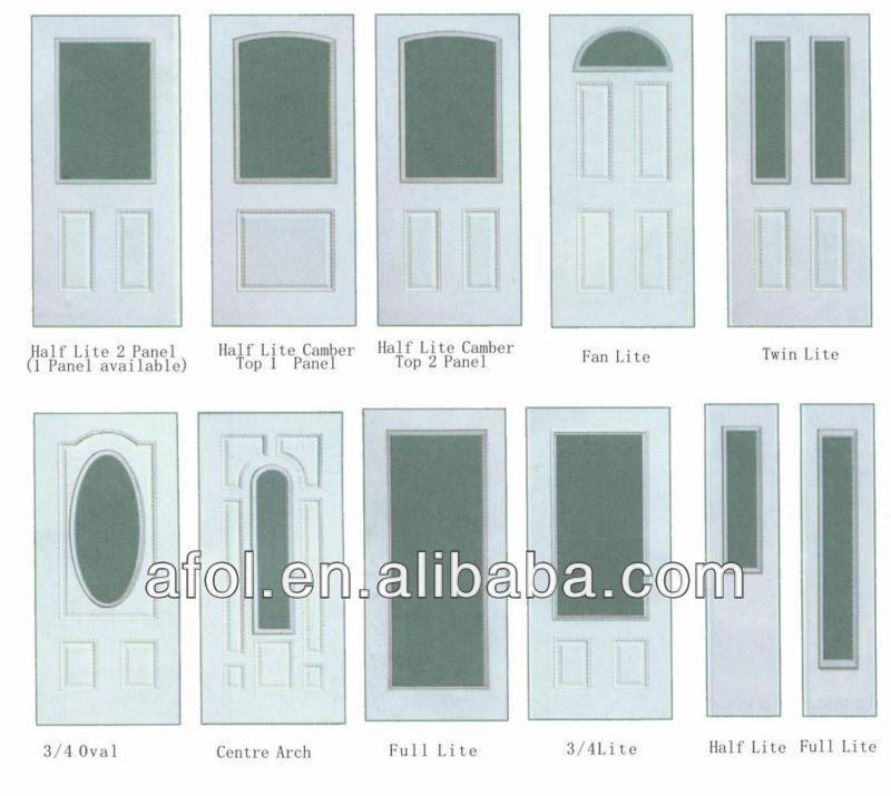 Exterior steel doors with glass