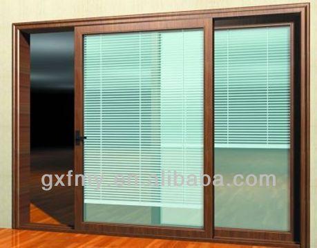 Finestre in alluminio con costruito in tende interne doppio vetro con rimboccarsi feritoie buy - Finestre con tende interne ...