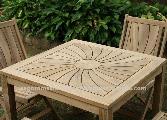 High Quality Outdoor Solid Teak Wooden Garden Furniture