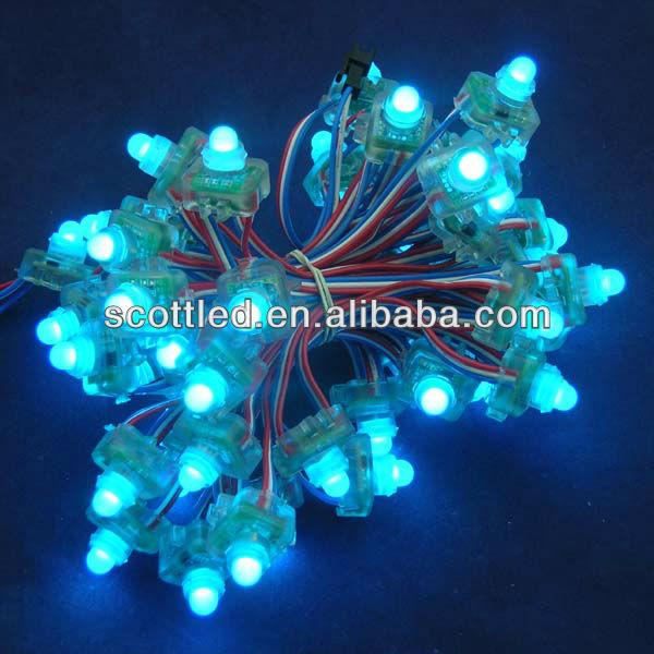 50nodes/string lights ws2811 waterproof smart pixel rgb led module+T-1000B flashing led light ...