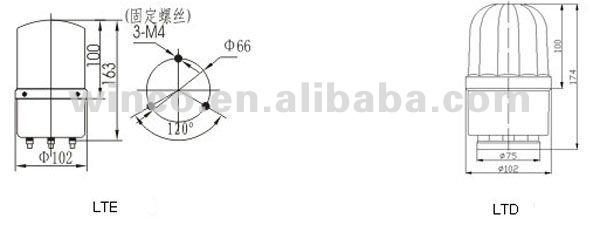 rotary warning light  alarm light  lte1101 ltd1101