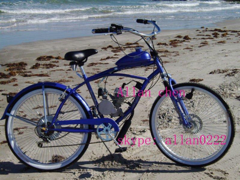 26 gas motor engine bike gas beach cruiser bike bicycle. Black Bedroom Furniture Sets. Home Design Ideas