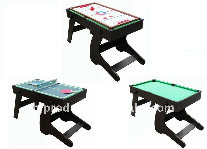 3 In 1 Rotating Multi Game Table Air Hockey Foosball Rable