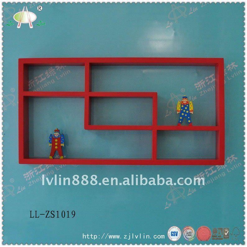 Modern Design Mdf Window Shape Display Wall Hanging Shelf