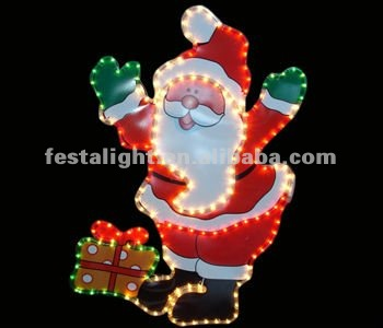 beautiful Santa Claus motif Christmas decorative lights
