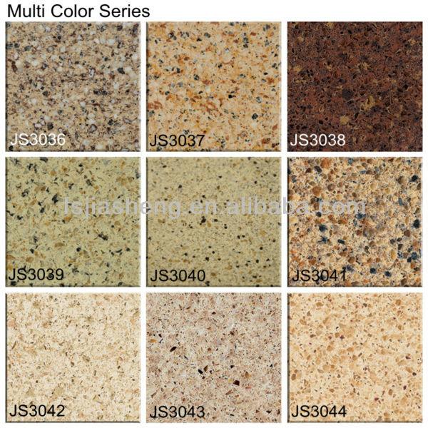 Multi color artificial quartz stone granite slabs for Colores de granito de importacion