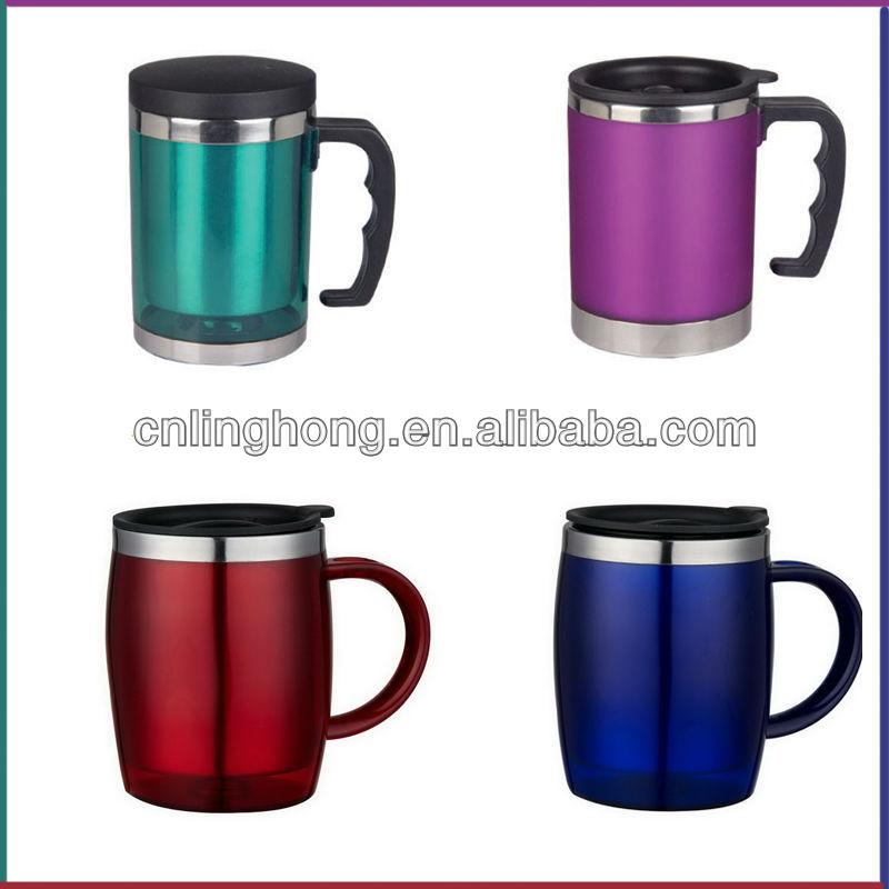 Stainless steel ceramic mug stainless steel travel mug travel mug buy ceramic mug plastic cute - Handleless coffee mugs ...
