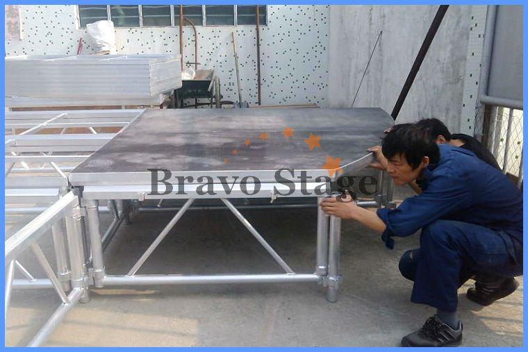 Portable Exhibition Flooring : Exhibition raised floor portable glass platform stage for