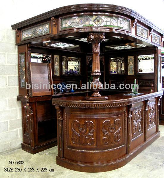 Bisini Customer Oem Home Solid Wood Bar Room Cabinet View