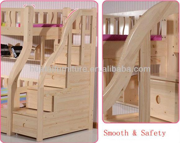 Kids Bedroom Set Furniture Solid Wood Bunk Bed Mother