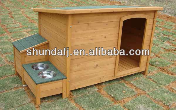 Elegant SDD0603 Wooden Flat Roof Dog House