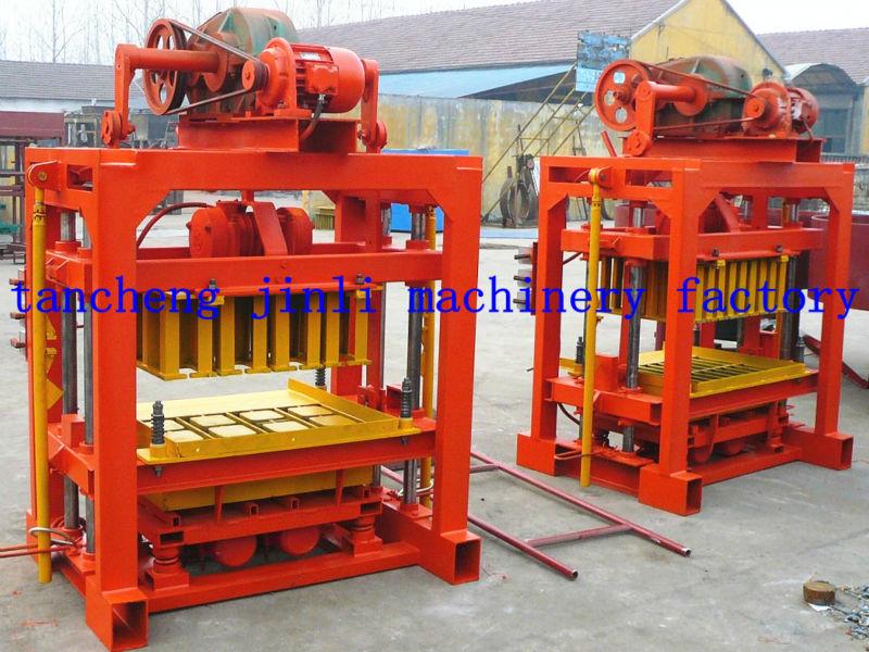 Cement Block Machines : Concrete block maker qt manual hollow brick machine