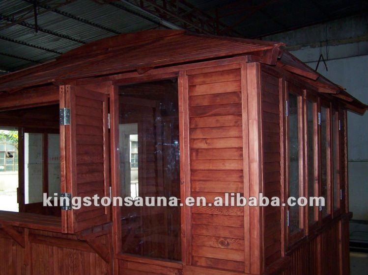 Large outdoor wooden pavilion gazebo bar china buy - Gazebos de madera ...