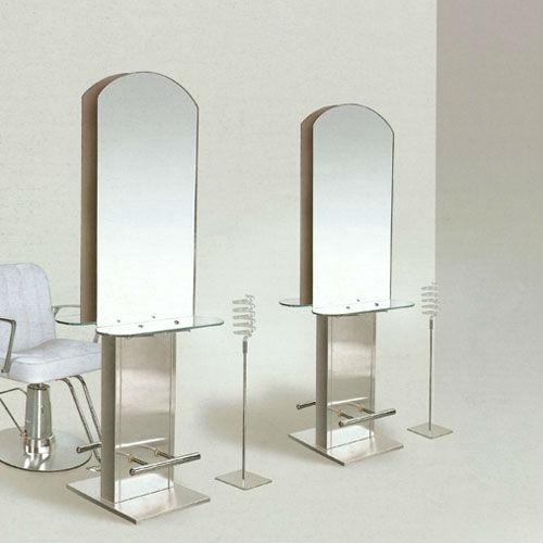 Silver coated hair salon mirror fashion design barber for Salon table and mirror