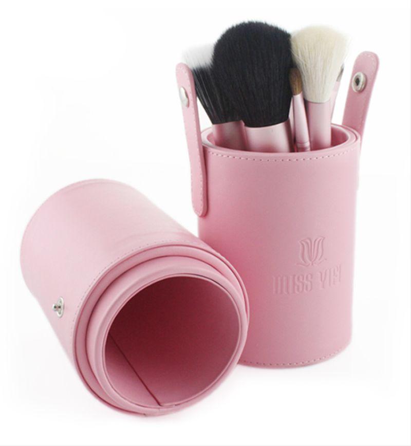 Miss Yifi Pink Canister 12pcs Makeup Brush Mini Cosmetic