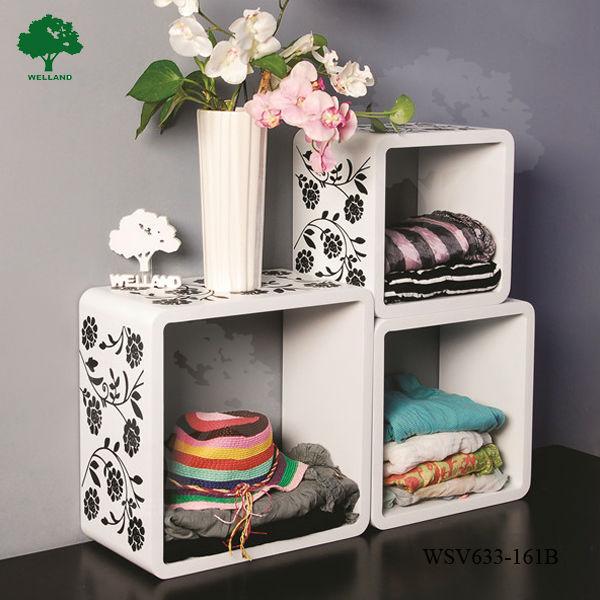 Cube Shelf Wall Decor : Wall decor wooden cube shelf buy